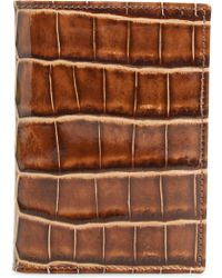 Mezlan - Alligator Leather Trifold Wallet - - Lyst