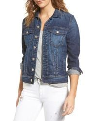 7 For All Mankind - 7 For All Mankind Classic Denim Jacket - Lyst