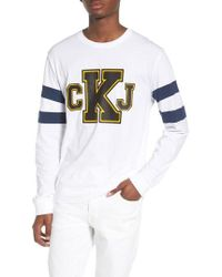 Calvin Klein Jeans - Stripe Sleeve Logo T-shirt - Lyst