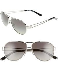 Tory Burch - 55mm Polarized Aviator Sunglasses - - Lyst