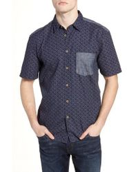 French Connection - Kast Relaxed Fit Short Sleeve Sport Shirt - Lyst