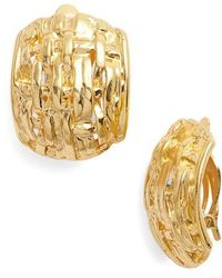 Karine Sultan - Grace Clip Earrings - Lyst