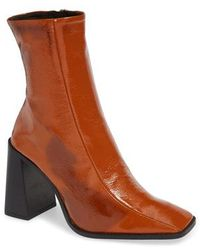 TOPSHOP - Hurricane Leather Bootie - Lyst