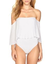 Amuse Society - Change Of Heart Off The Shoulder Bodysuit - Lyst