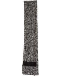 Moncler | Wide Melange Knit Scarf | Lyst