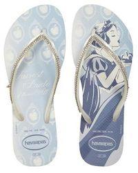 Havaianas - Slim Disney Princess Crystal Flip Flop - Lyst