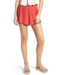 Lush - Pleat Front High Waist Shorts - Lyst