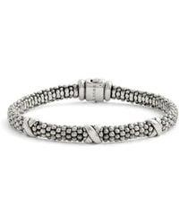 Lagos - 'signature Caviar' Mini Oval Rope Bracelet - Lyst