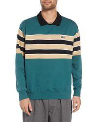 Obey - Cupid Striped Polo Collar Sweatshirt - Lyst