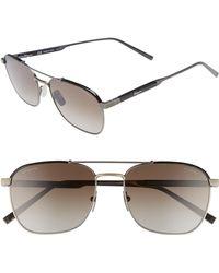 Ferragamo - Classic Logo 56mm Polarized Aviator Sunglasses - - Lyst