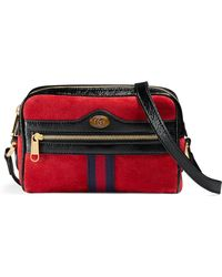 Gucci - Ophidia Suede Mini Bag - Lyst
