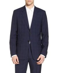 Theory - Chambers Trim Fit Plaid Sport Coat - Lyst