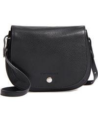 32c813b39bab Longchamp - Small Le Foulonne Leather Crossbody Bag - Lyst