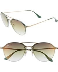 8008c68ad9 Lyst - Ray-Ban Men s Gradient Rb3530 Rb3530-001 13-58 Gold Aviator ...