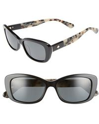 Kate Spade   Claretta 53mm Polarized Sunglasses   Lyst