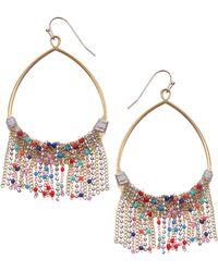 Nakamol Chain Fringe Teardrop Earrings
