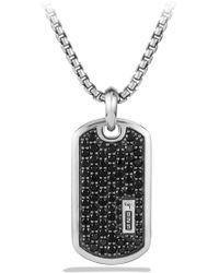 David Yurman Pavé Tag With Black Diamonds