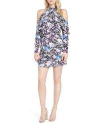 Parker - Noemi Cold Shoulder Silk Dress - Lyst