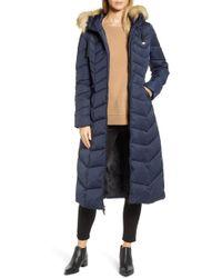 Tahari - Faux Fur Collar Puffer Coat - Lyst