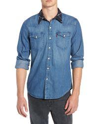 Levi's - X Justin Timberlake Barstow Western Chambray Shirt - Lyst