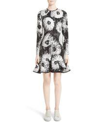 Victoria, Victoria Beckham - Floral Flounce Hem Dress - Lyst