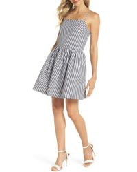 French Connection - Sardinia Stripe Cotton Sundress - Lyst