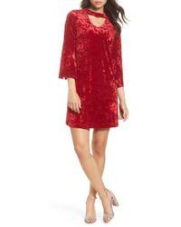 Taylor Dresses - Crushed Velvet Choker Dress - Lyst