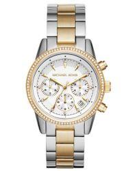 Michael Kors - Ritz Chronograph Bracelet Watch - Lyst