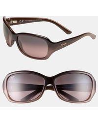Maui Jim - Pearl City 63mm Polarizedplus2 Sunglasses - Chocolate Fade - Lyst