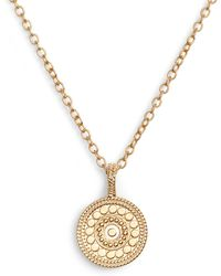 Anna Beck - Beaded Reversible Circle Pendant Necklace (nordstrom Exclusive) - Lyst