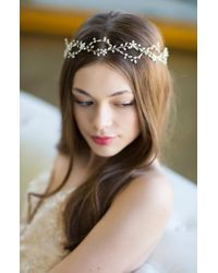 Brides & Hairpins - Octavia Pearl & Jeweled Halo & Sash - Lyst