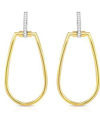 Roberto Coin | Classica Parisienne Diamond Oval Earrings | Lyst