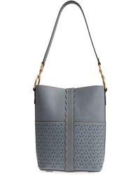 Frye - Ilana Perforated Leather Bucket Hobo - Lyst