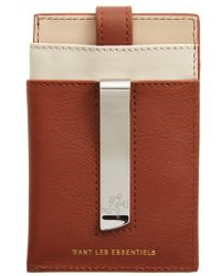 Want Les Essentiels De La Vie - 'kennedy' Leather Money Clip Card Case - Lyst