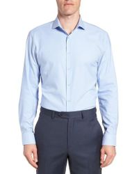 Nordstrom - Tech-smart Trim Fit Stretch Texture Dress Shirt - Lyst