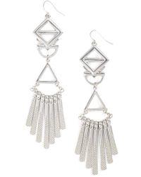 Adia Kibur - Geometric Drop Earrings - Lyst