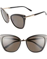 8056e198b47 Tom Ford - Simona 56mm Sunglasses - Havana  Rose Gold  Turq  Sand -
