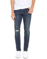 Treasure & Bond - Slim Fit Destroyed Jeans - Lyst