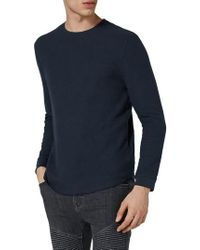 TOPMAN - Waffle Knit Long Sleeve T-shirt - Lyst