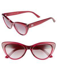 Balenciaga - 54mm Gradient Cat Eye Sunglasses - - Lyst