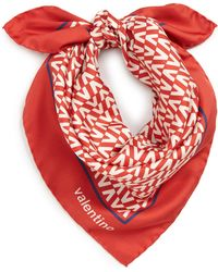Valentino - Optical Square Silk Scarf - Lyst