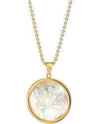 Asha - Zodiac Mother-of-pearl Pendant Necklace - Lyst