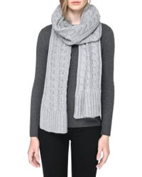 SOIA & KYO | Cable Knit Scarf | Lyst