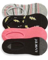 Sockart - Livin By My Rule 4-pack No-show Socks - Lyst
