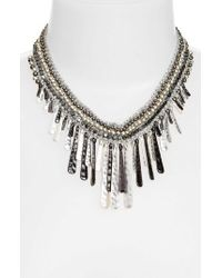 Nakamol - Beaded Stick Bib Necklace - Lyst