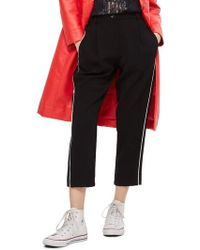 TOPSHOP - Side Pipe Joggers - Lyst