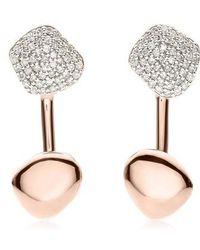 Monica Vinader - Nura Nugget Diamond Jacket Earrings - Lyst