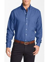 Cutter & Buck | 'nailshead - Epic Easy Care' Classic Fit Sport Shirt | Lyst
