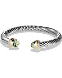 David Yurman - Cable Classics Bracelet With Semiprecious Stones & 14k Gold - Lyst