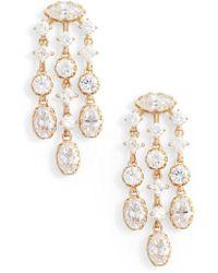 Nadri - Georgian Chandelier Earrings - Lyst